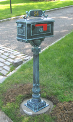 Traditional Mailbox and Pedestal Post