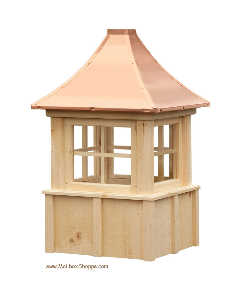 Board batten cupola with windows for Cupola for shed