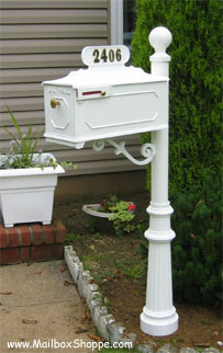 Imperial Mailbox # 888 White