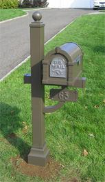 Bronze Nickel Keystone Mailbox Deluxe Post