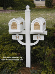 Double Keystone Mailbox Post