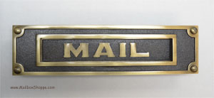 Antique Brass Mail Slot