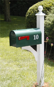 Aluminum Contemporary Mailbox Post