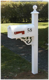 Decorative Aluminum Mailbox Post