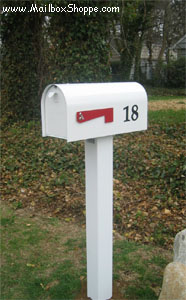 Basic Aluminum Mailbox Post
