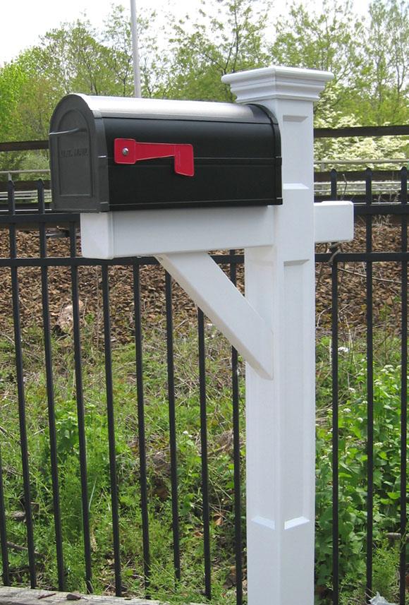 Fluted Mailbox Post - Recessed Panel Vinyl Mailbox Post