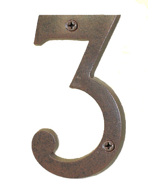 Antique Copper House Number