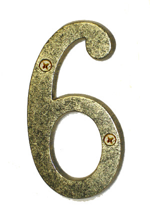Antique Gold House Number