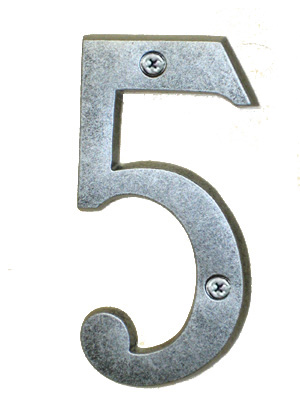 Antique Silver House Number