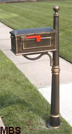 600 Cast Aluminum Mailbox Post
