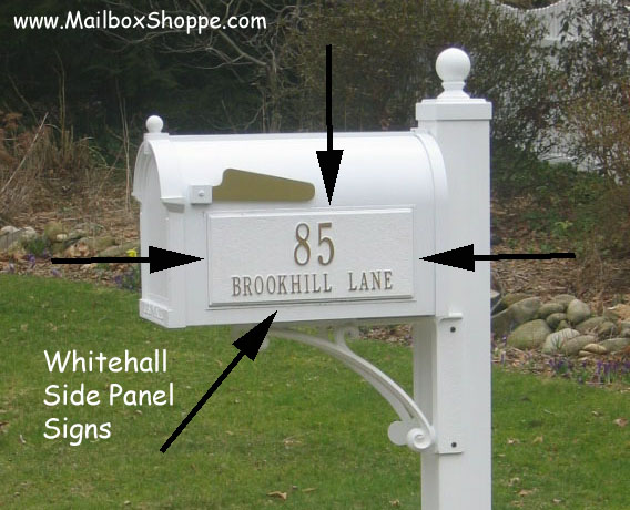 Whitehall Mailbox Side Panel Signs