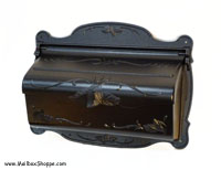 SHF Cast Leaf Mailbox Black