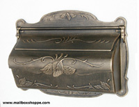 Antique Gold Cast Floral Leaf Mailbox