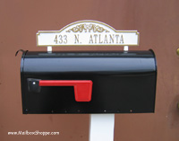 Whitehall Arch Top Mailbox Sign