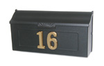 Mailbox with house numbers