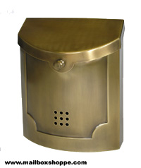 Antique Brass Modern Mailbox