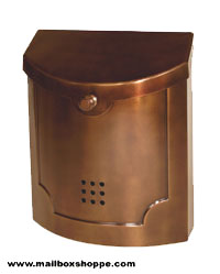 Antique Copper Modern Mailbox