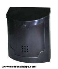 Blackened Pewter Modern Mailbox