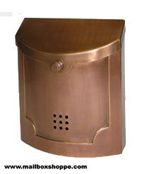 Polished Copper Modern Mailbox