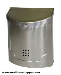 Satin Nickel Modern Mailbox