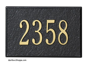 1426 Whitehall Wall Mailbox number plaque